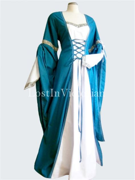 Period Wedding Dresses Uk by Teal Blue And White Period Dress Wedding Gown
