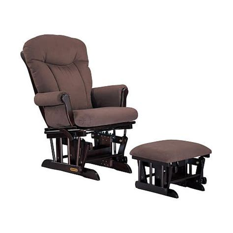 Shermag Rocker And Ottoman Combo Shermag Glider Rocker And Ottoman Combo Chocolate Tea Mocha Fabric Lighter Chairs And