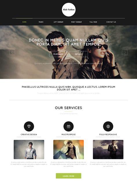 Fashion Style Web Template Male Fashion Website Templates Dreamtemplate Fashion Stylist Website Templates