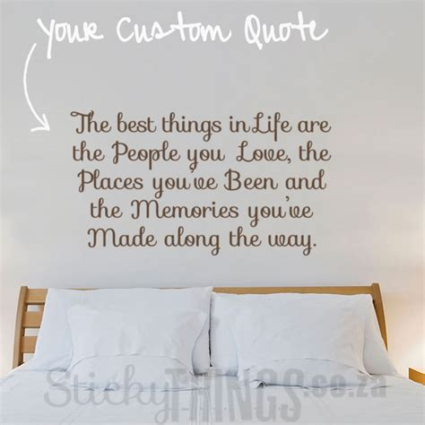 custom wall sticker quotes custom wall decal quote stickythings co za
