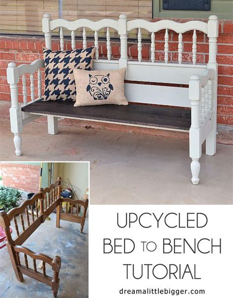 front of bed bench upcycled bed to bench tutorial front porch bench porch