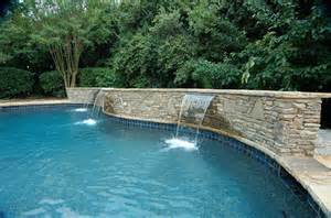 pool fountains and waterfalls pool waterfall construction waterfall design atlanta