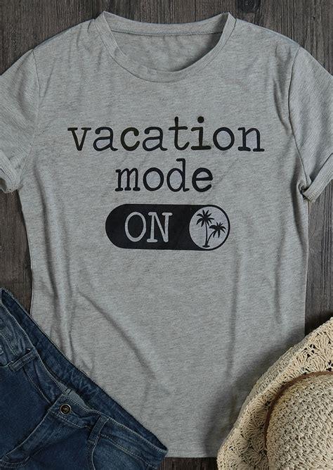 vacation mode  neck  shirt fairyseason