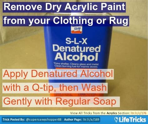 acrylic paint how to remove from clothes remove acrylic paint from your clothing or rug