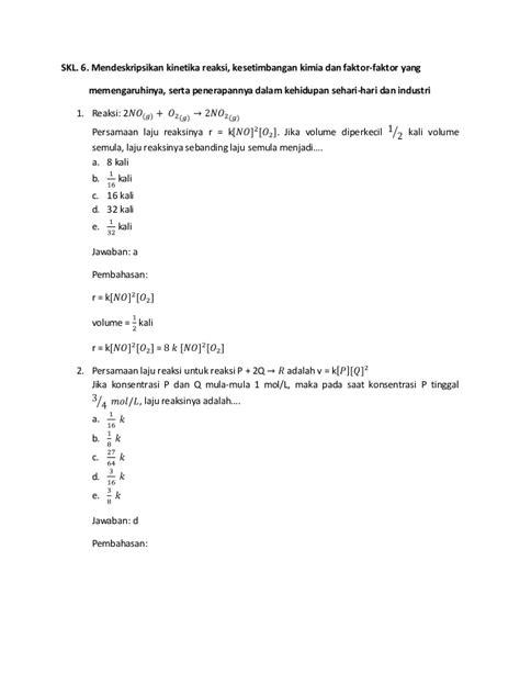 SKL UN Kimia (1-6) soal dan pembahasan - XII IPA - SMA