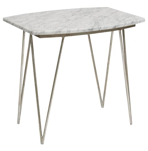 white and silver side table piazza regency white marble silver side table