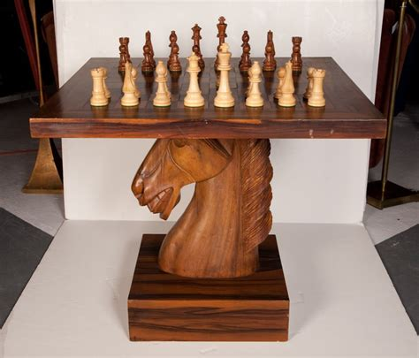 Dining Room Table Pedestal by American Fantasy Knight Chess Table At 1stdibs