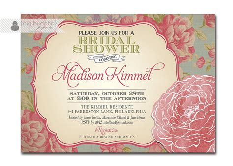 free vintage invitation templates vintage wedding shower invitations vintage bridal shower