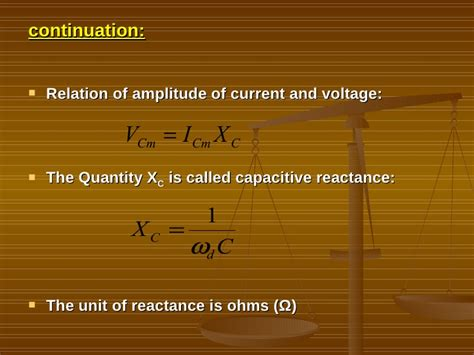 capacitive reactance unit of measure prefinal