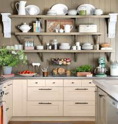 Small Kitchen Shelves Ideas Small Kitchen Organizing Ideas Wooden Shelves Click