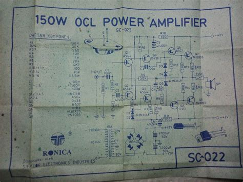 layout lifier ocl 150 watt pcb ronica museum gallery since 1990 sc 022 power