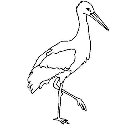 stork 1 coloring page coloringcrew com