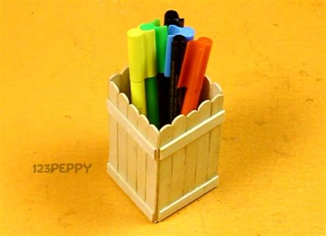 How To Make Pen Stand Using Paper - recycled crafts project ideas 123peppy