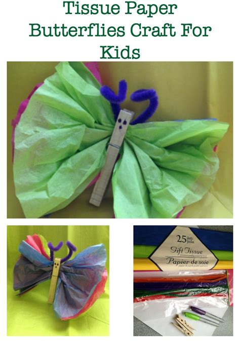 Tissue Paper Craft For - easy easter crafts for diy tissue paper butterflies
