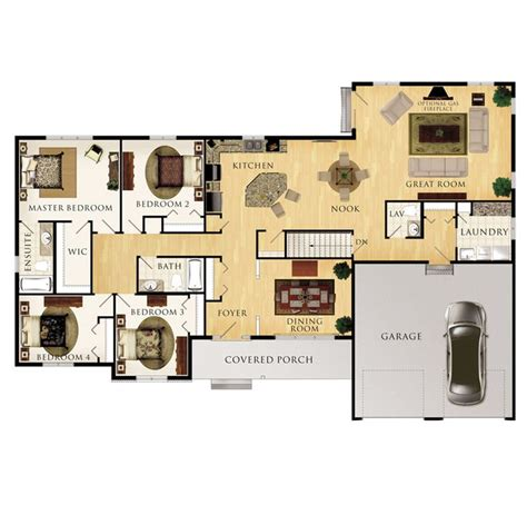 beaver homes and cottages sinclair floor plan one level