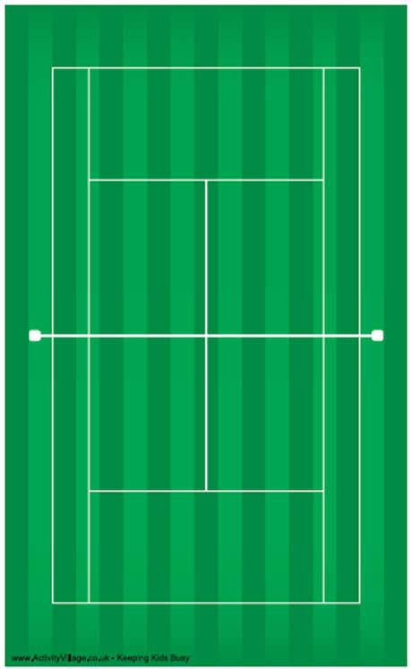 tennis court template tennis court printable