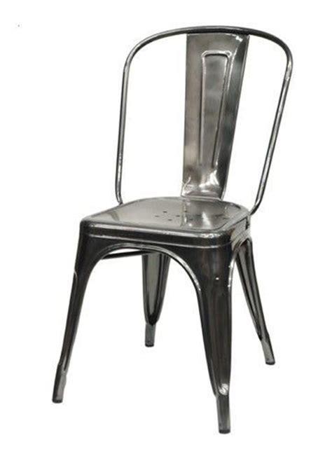 chaise a tolix brut verni brillant