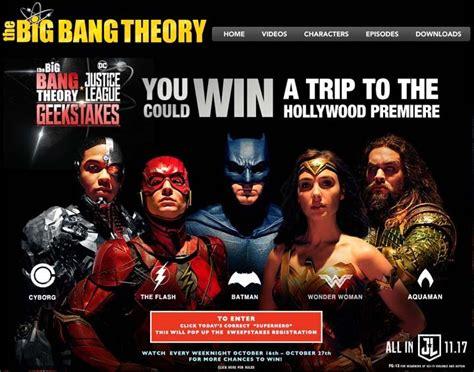 Big Bang Theory Sweepstakes - bigbangweeknights com justice league geek stakes sweepstakes sweepstakes pit