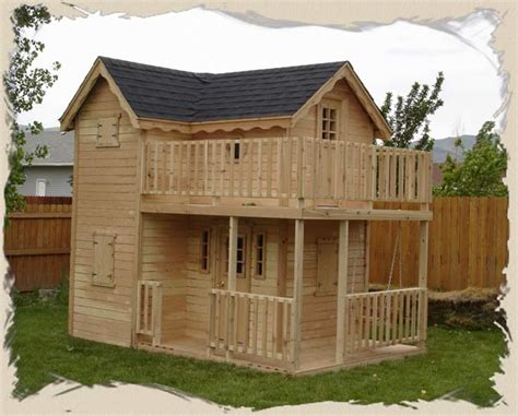 outside playhouse plans double decker playhouse plans child s outdoor wood