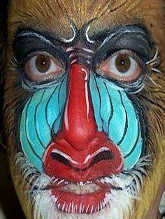 face painting rafiki  mandrill baboon  pinterest lion king kinderschminken pavian
