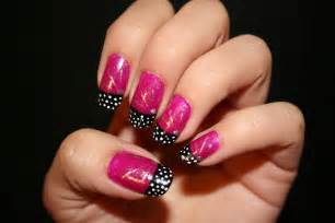 pink and black nails nails picture