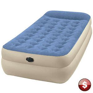 intex raised air bed mattress up sleeper portable cing ebay