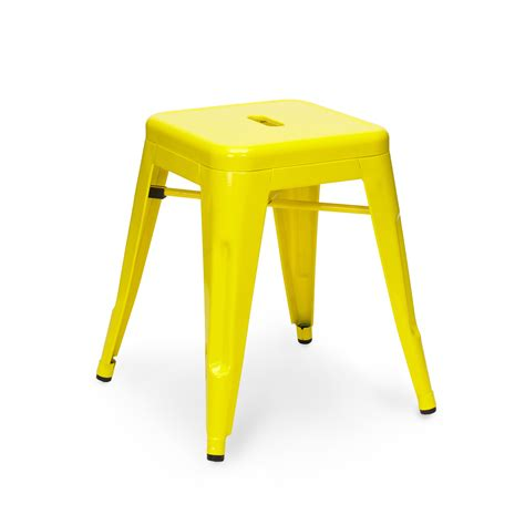Yellow Bowel Stools yellow tolix stool 45cm