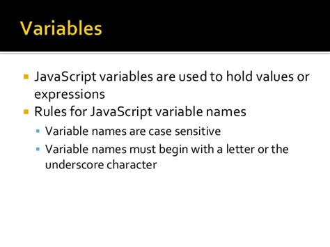Character Variable Letter Javascript Variables And Datatypes