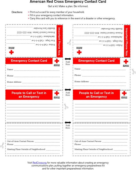 emergency cards template emergency contact form free premium templates