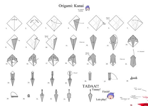 How To Make Origami Kunai - image gallery origami kunai