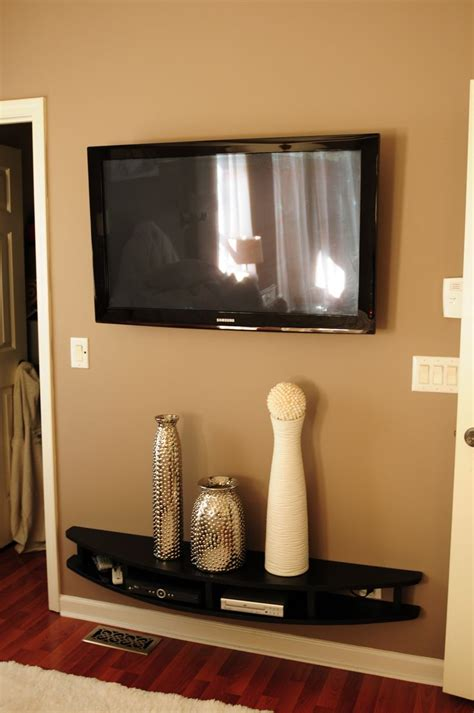 modern wall mounted shelves in wall mounted shelf desk hubby built modern shelves to wall mount under tv he is