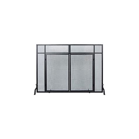 shop achla designs 50 in black iron flat fireplace