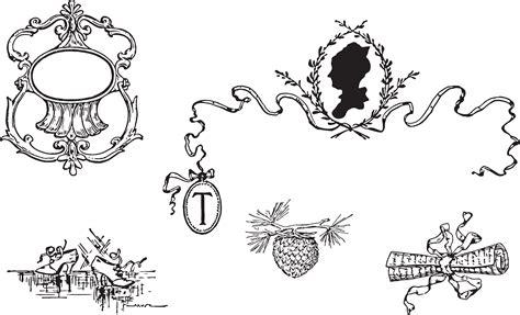 vic alphabeth bw free clipart vintage letter decorative