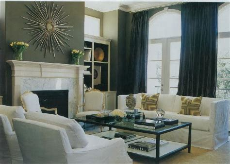 charcoal gray walls living room black curtains transitional living room