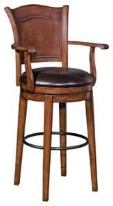 31 Inch Bar Stools Stein World 31 Inch Swivel Bar Stool With Arms Pecan