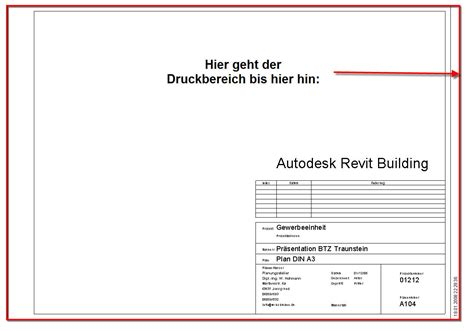 architektur plankopf drucken druckr 228 nder autodesk autocad revit architecture