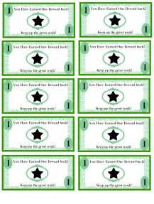 money template for school free printable reward bucks for money theme i m