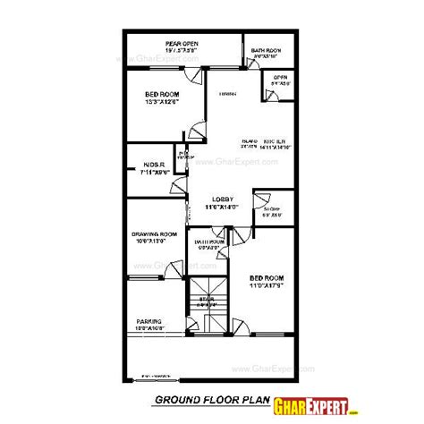 Dimensions Of 200 Square Feet | house plan for 30 feet by 60 feet plot plot size 200