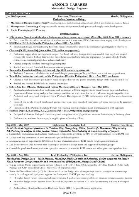 mechanical engineer sample resume topshoppingnetwork com