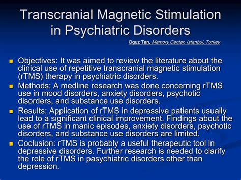 ppt transcranial magnetic stimulation in psychiatric