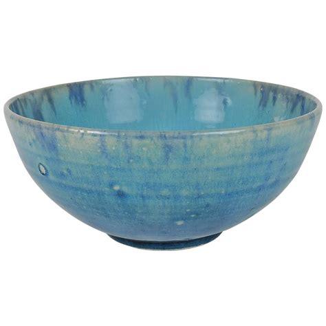 ceramic bowls american pottery blue glazed ceramic bowl at 1stdibs
