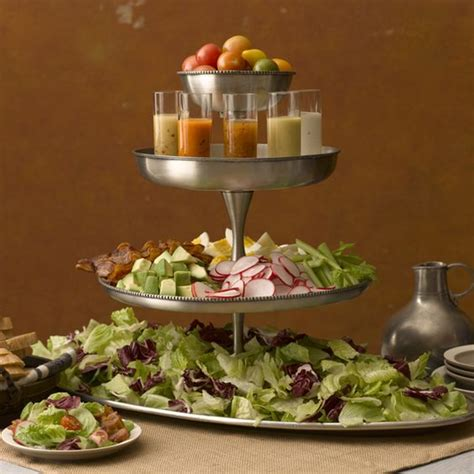 salad buffet menu ideas tiered salad bar like the serving of dressing in small glasses food ideas