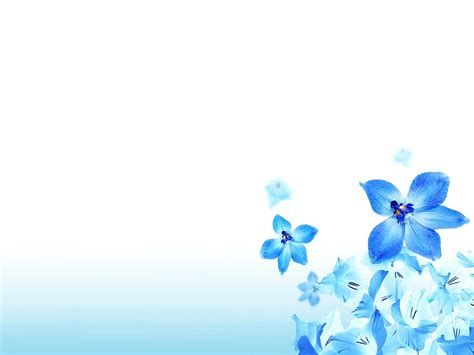 flower ppt template powerpoint background flower blue clipartsgram