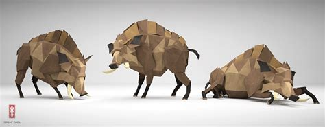Kool Origami - the paper fox project the boar is no bore not any more