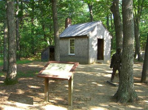 Thoreaus Cabin by New Photo A Replica Of Thoreau S Cabin Stands