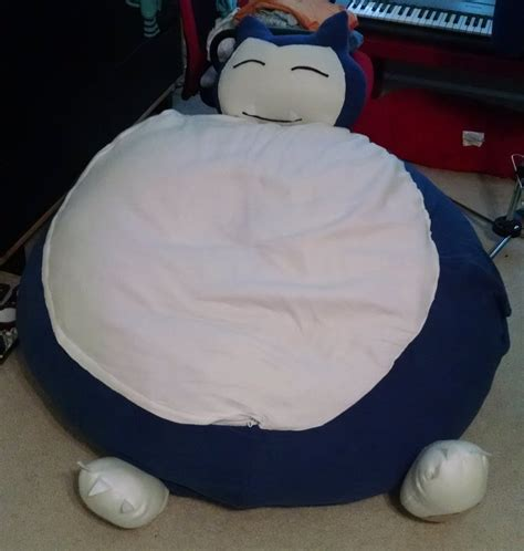Snorlax Chair by Snorlax Bean Bag Chair Cover By Thefleecehatter On Deviantart