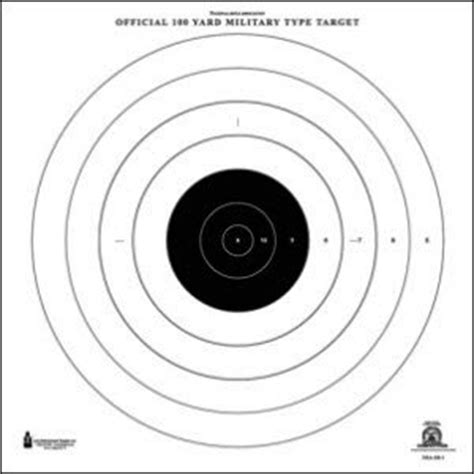 printable 500 yard targets amazon com nra 100 yard rifle rapid fire target 25 pack