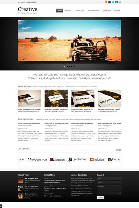 theme drupal photo creative premium drupal portfolio theme