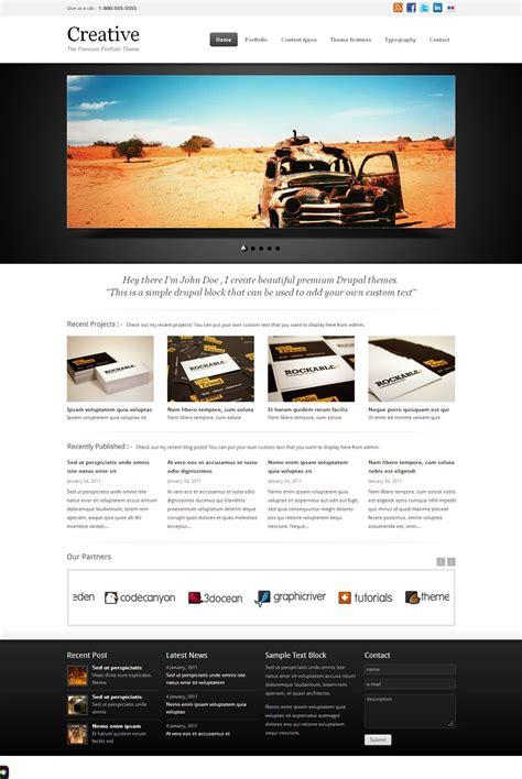 theme drupal simple creative premium drupal portfolio theme