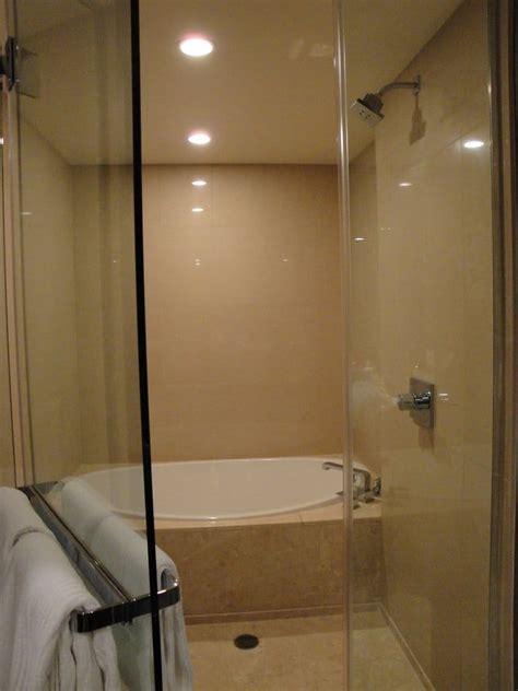 hotel feb 2010 standard room shower and tub yelp